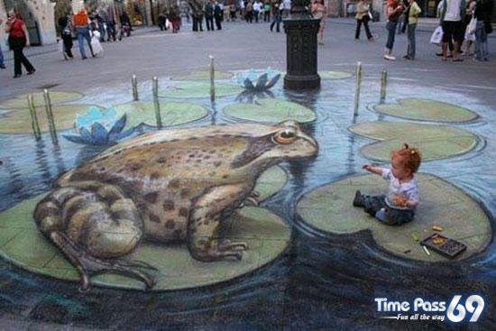 drawing on the floor