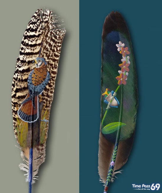 Feather Painting  Awesome
