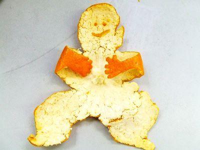 Creative Art in Orange Fruit