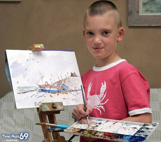 7 Years Old Boy Make Incredible Watercolor Paintings Kieron Williamson