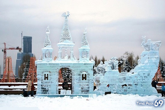 Ice City in The World of Ice Sculptures