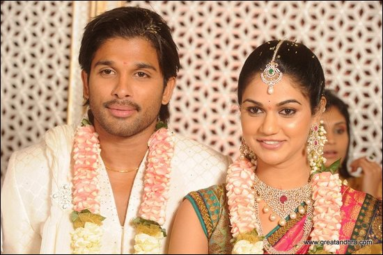 Allu Arjun and Sneha Reddy Engagement