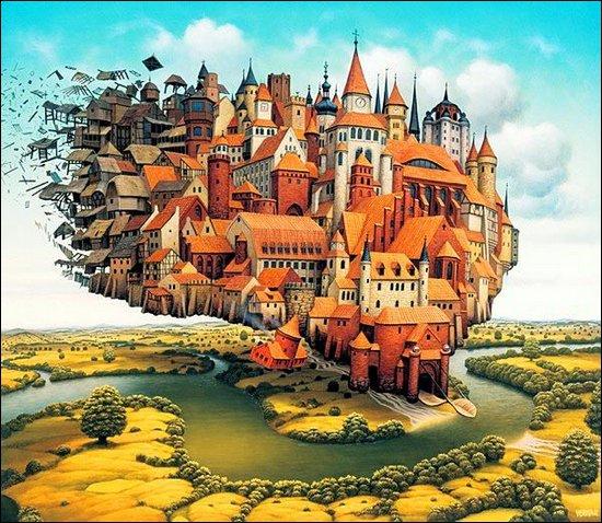 Fantastic illustrations by Jacek Yerka