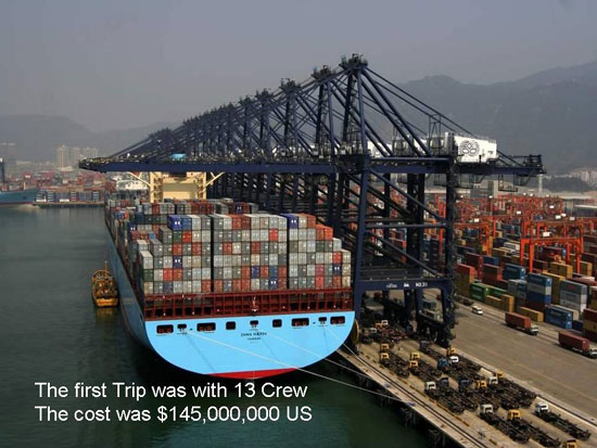 MAERSKLINE The Biggest Container Ship in the World