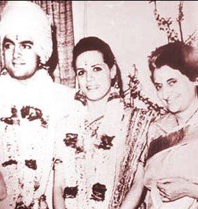Rajiv Gandhi Sonia Marriage Photos