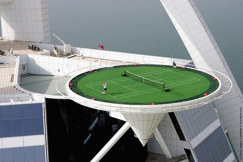 Worlds Highest Tennis Court at Burj Al Arab