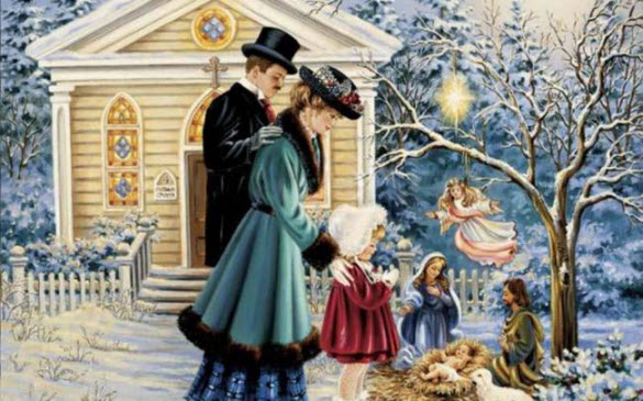 Christmas Paintings Art