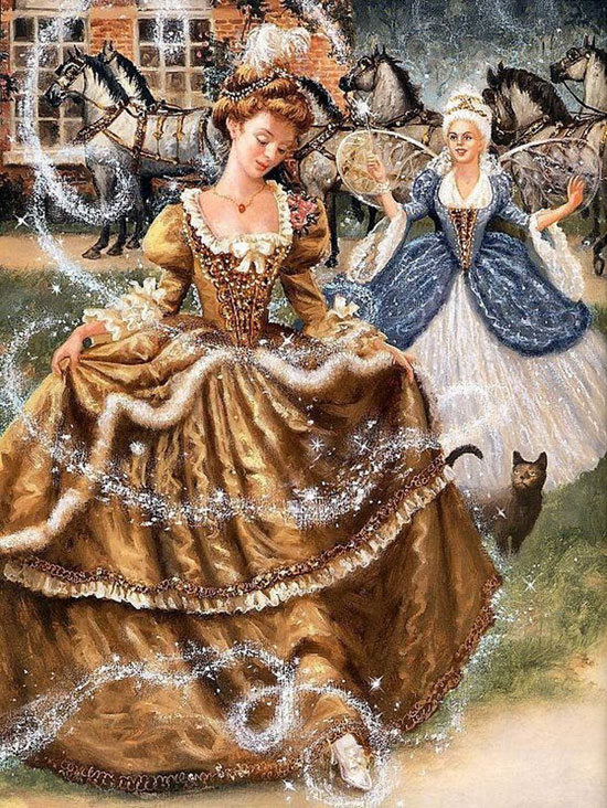 Cinderella Story in Classic Art Paintings