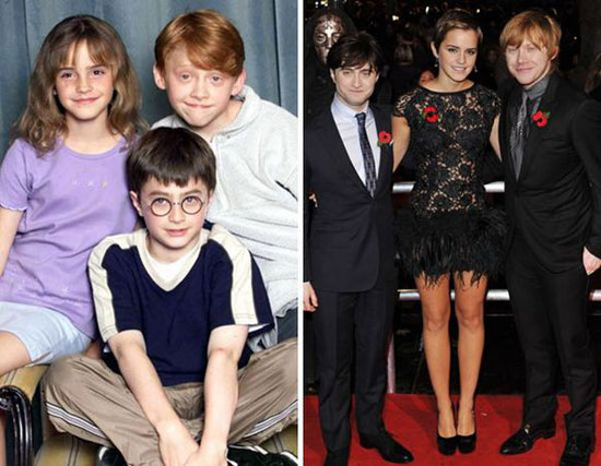 Harry Potter Kids Then and Now