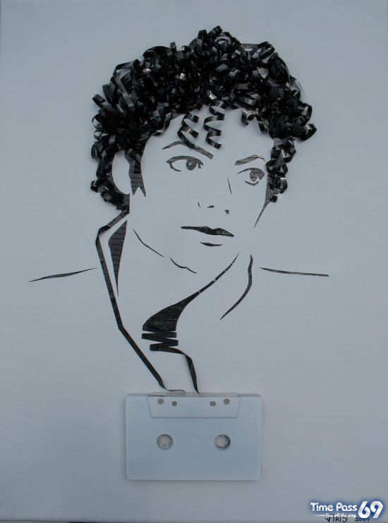 Portraits Made Out of Cassette Tapes