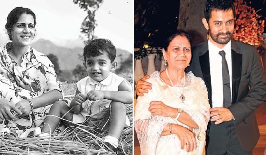 Aamir khan family photos Aamir khan childhood photos Aamir khan unseen pics