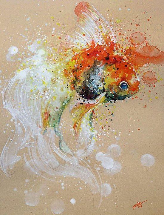 Splashed Watercolor Paintings