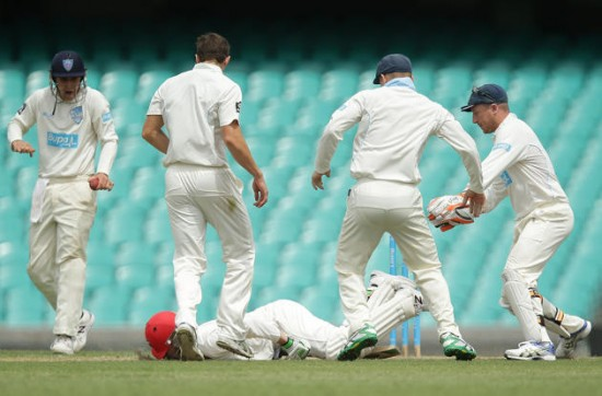 The Phil Hughes Incident: In Images